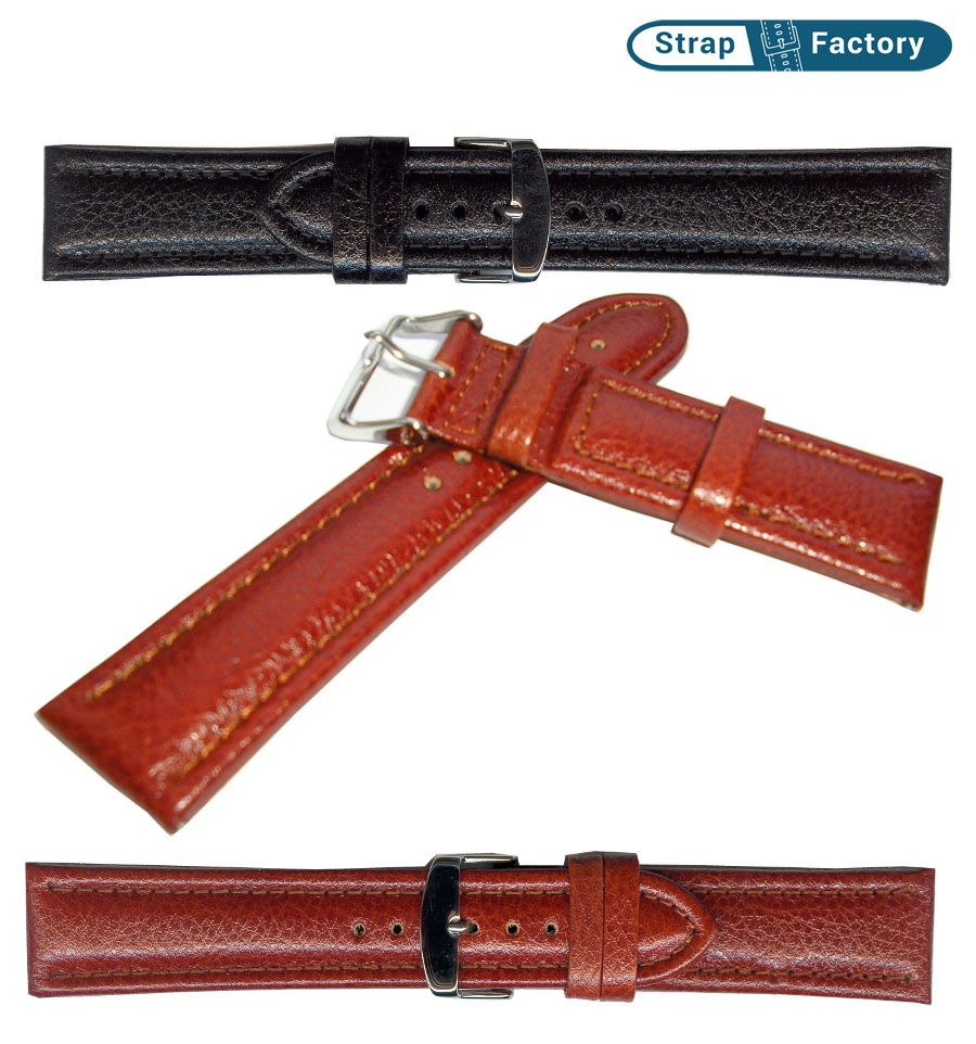newsite denver calf padded leather watch strap