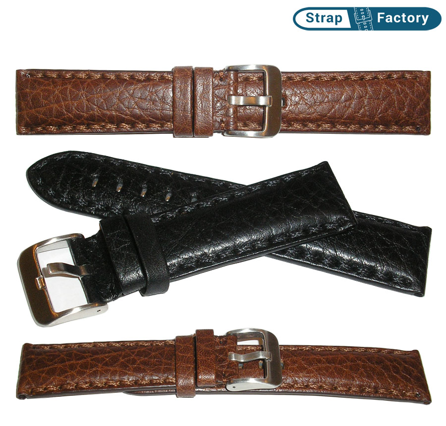 newsite hand stitched calf learther watch strap