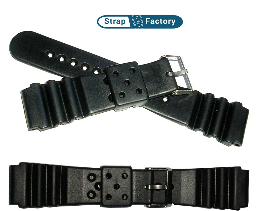 newsite 22mm black seiko divers watch strap