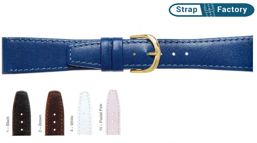 newsite 6mm classic calf leather watch strap