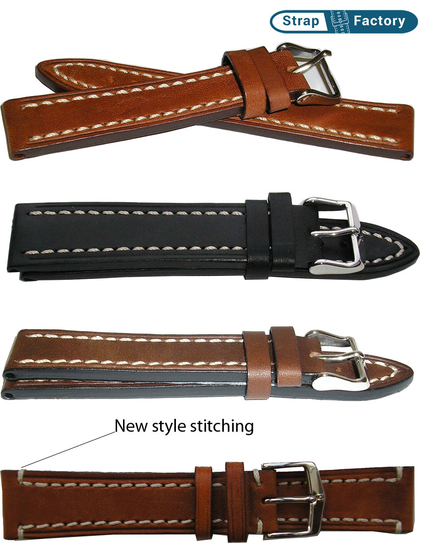 newsite Hirsch Liberty padded leather watch strap