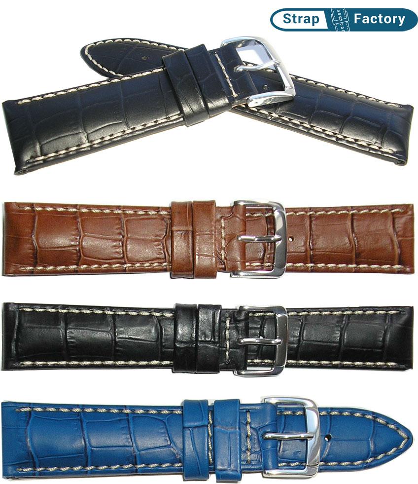 newsite Hirsch alligator leather watch strap