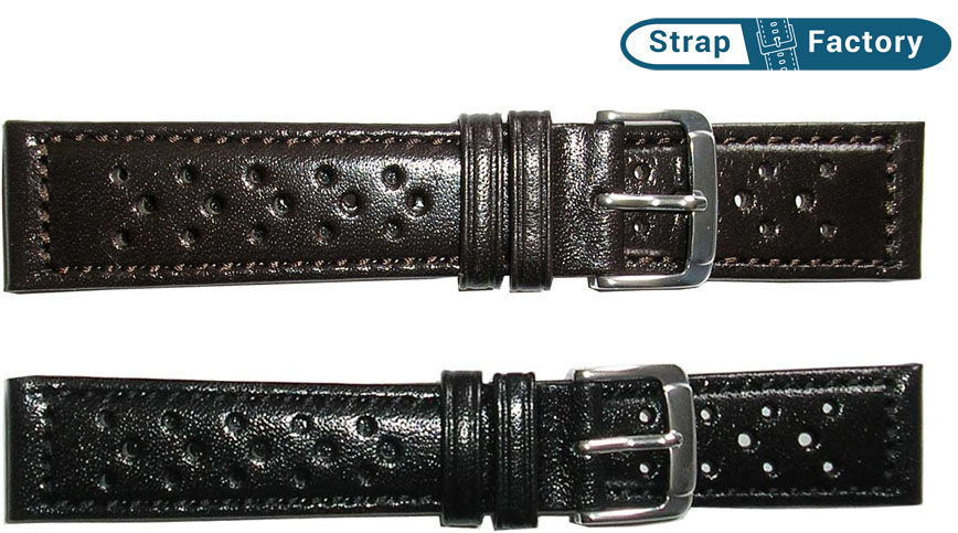 newsite Hirsch driving band leather watch strap