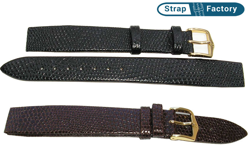 newsite Hirsch rainbow open end leather watch strap