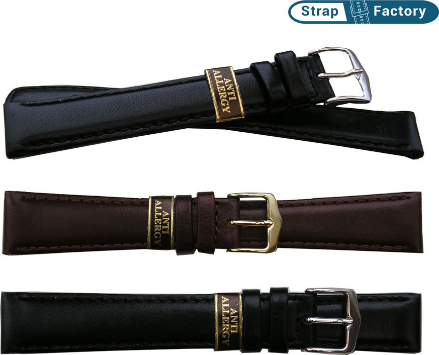 newsite anti-allergy extra long leather watch strap