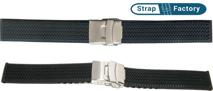 newsite black silicon tyre tread watch strap
