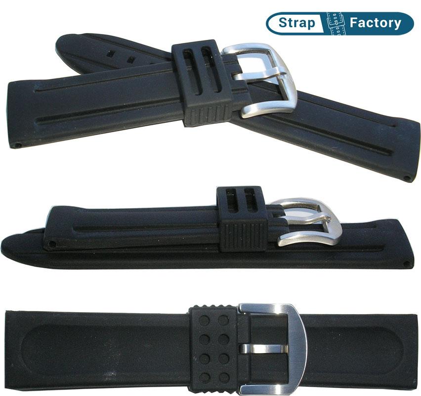 newsite black zrc silicon watch strap