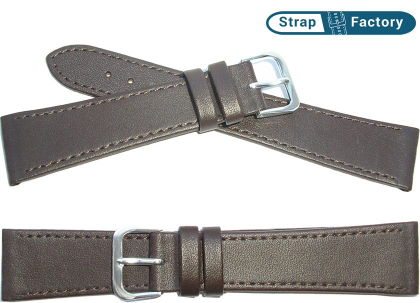 newsite brown extra long leather watch strap