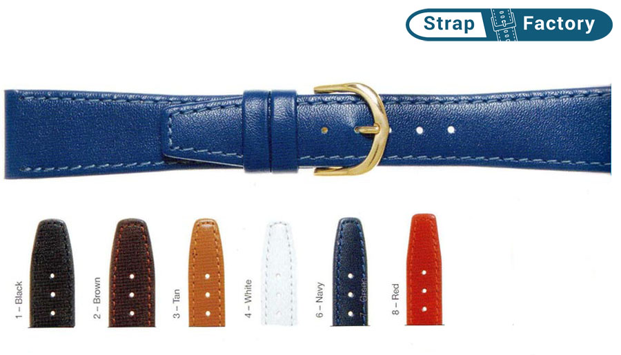 newsite classic calf extra long leather watch strap