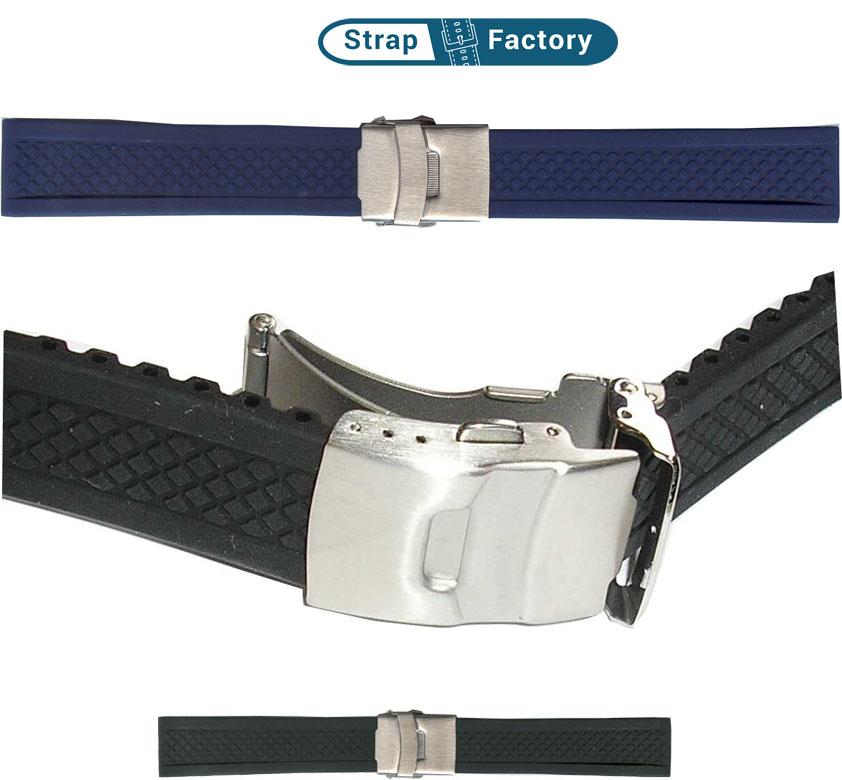 newsite diamond rubber watch strap