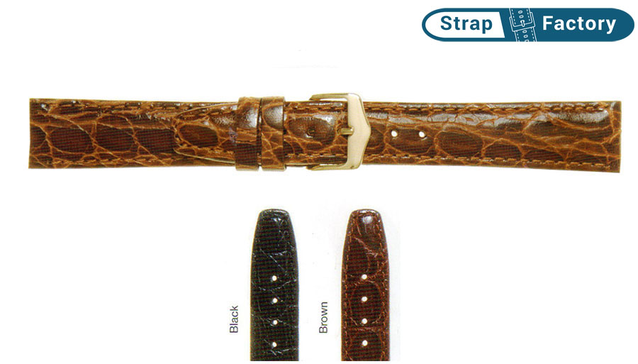 newsite extra long super croc leather watch strap