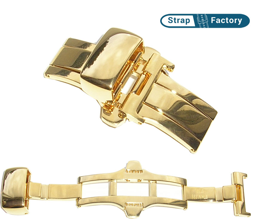 newsite gilt watch strap clasp