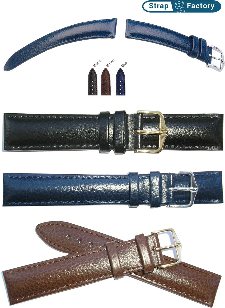 newsite hirsch highland extra long leather watch strap
