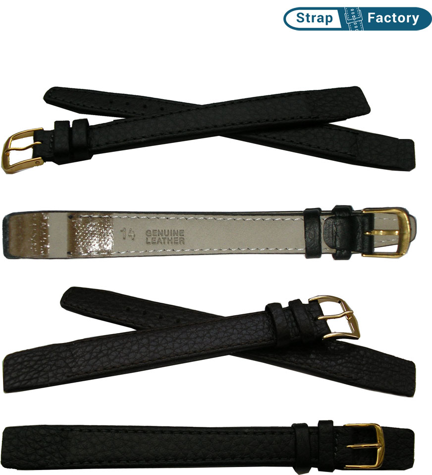 newsite open end extra long leather watch strap