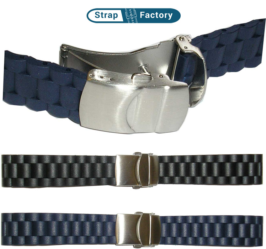 newsite oyster rubber diver watch strap