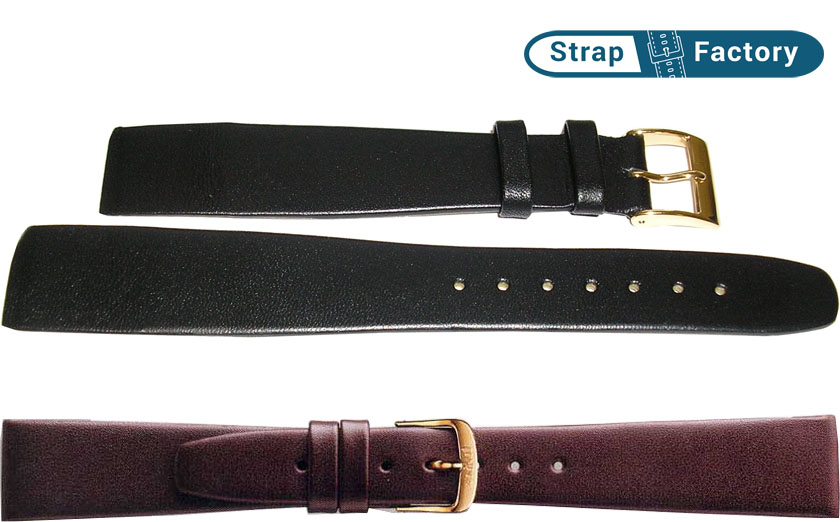 newsite plain calf open end leather watch strap