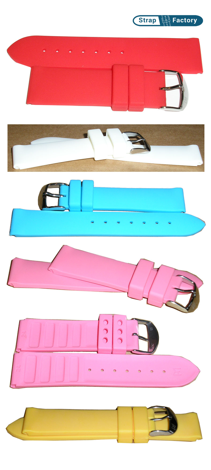 newsite plain silicon waterproof watch strap