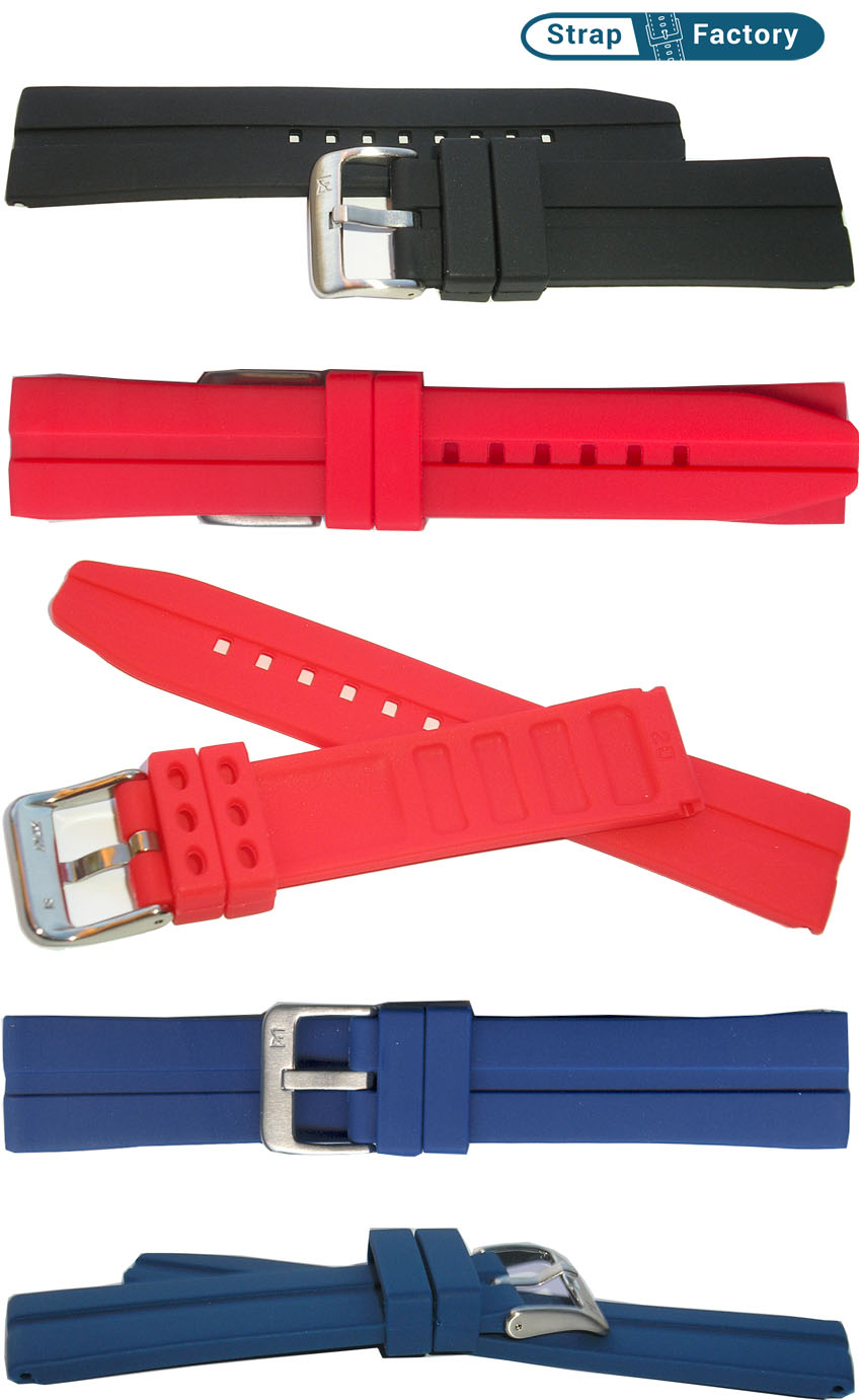 newsite silicon waterproof striped watch strap