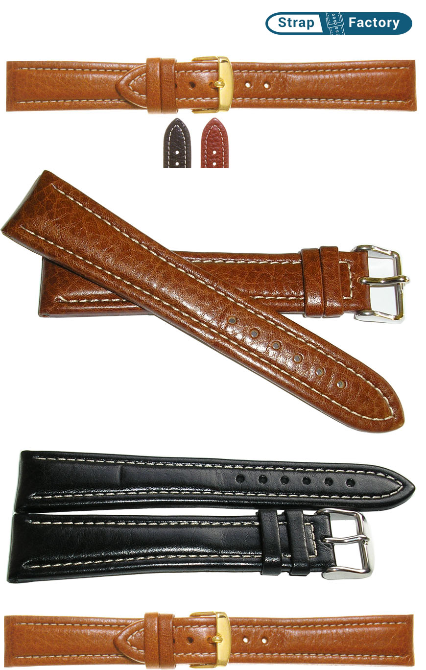 newsite super calf padded extra long leather watch strap