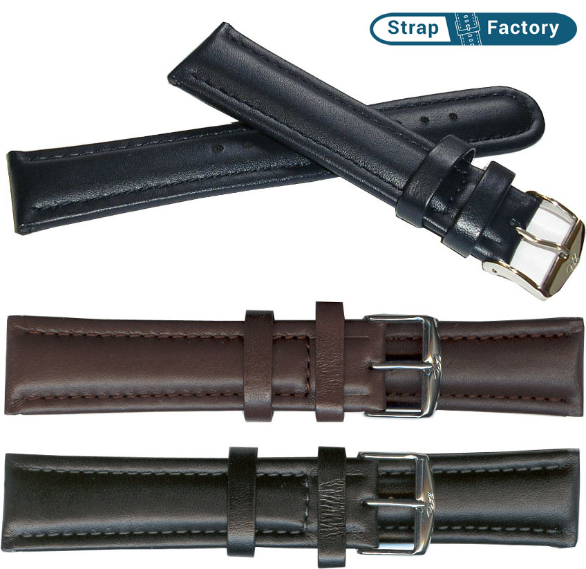newsite zrc padded calf leather watch strap