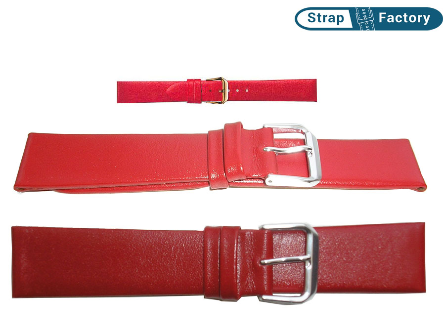 newsite_red calf leather watch strap