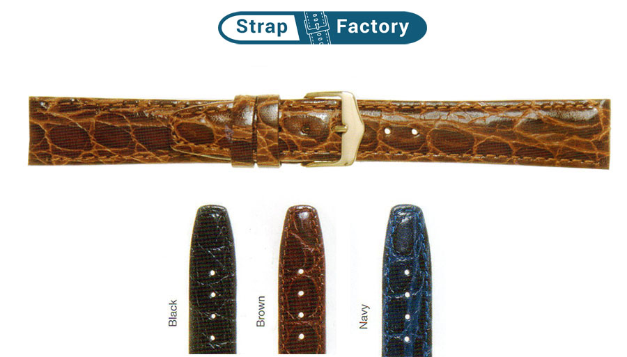 newsite_supercrocgrain leather watch strap