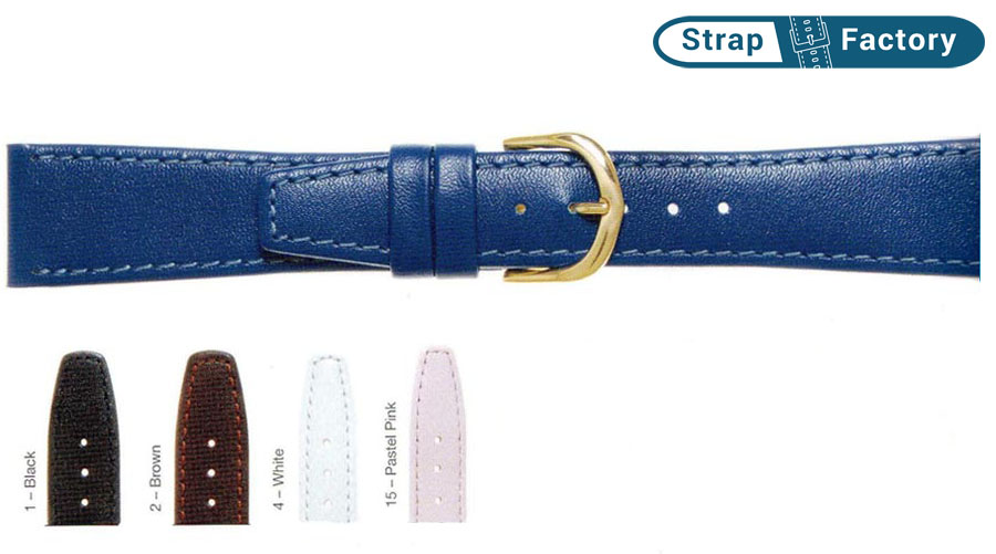 newsite-22mm classic calf leather watch strap