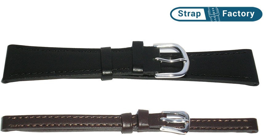 newsite 22mm plain calf extra long leather watch strap