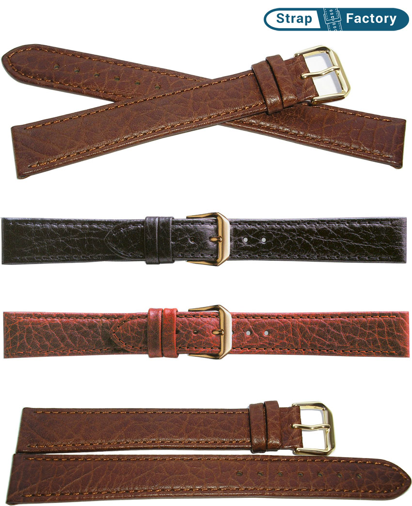 newsite camel grain extra extra long leather watch strap